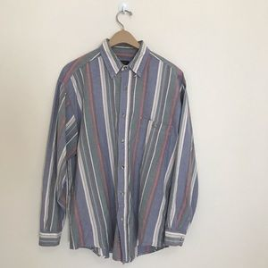 Vintage Eddie Bauer striped button down